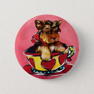 Yorkie Poo Pinback Button