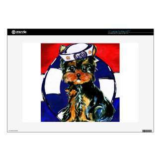 YORKIE POO SAILOR DECAL FOR LAPTOP