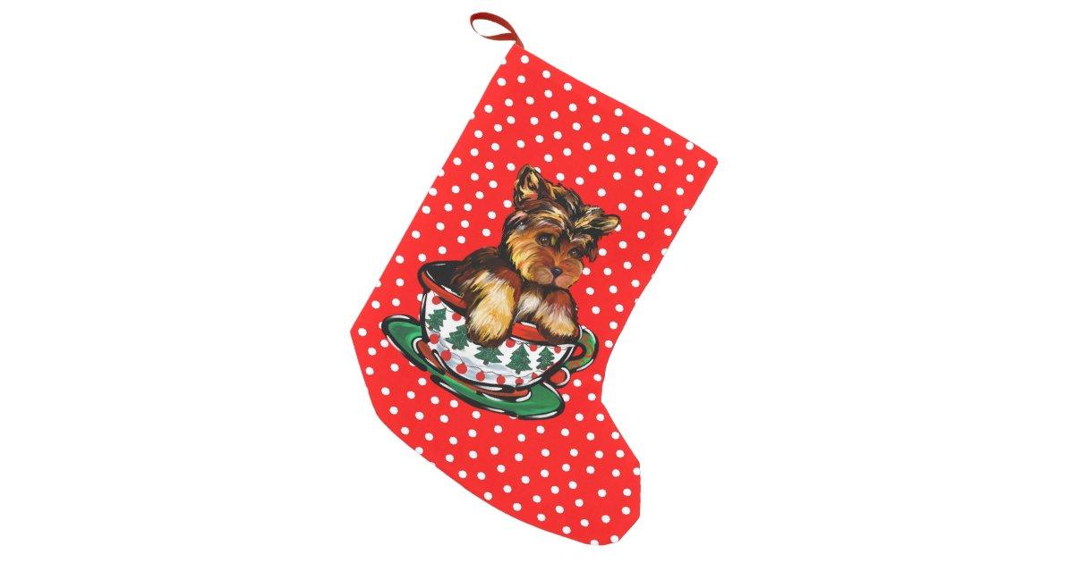 Yorkie Poo Small Christmas Stocking Zazzle Com
