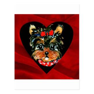 Yorkie Poo Valentine Postcard