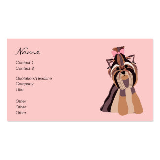 Yorkie Portrait Double-Sided Standard Business Cards (Pack Of 100)