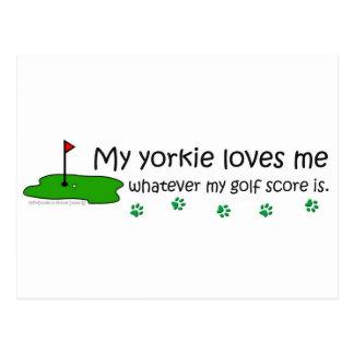 Yorkie Postcard
