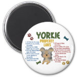 Yorkie Property Laws 4 2 Inch Round Magnet