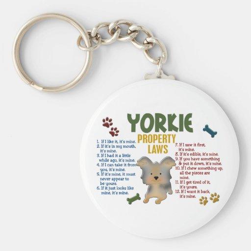 Yorkie Property Laws 4 Keychain