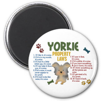 Yorkie Property Laws 4 Magnet