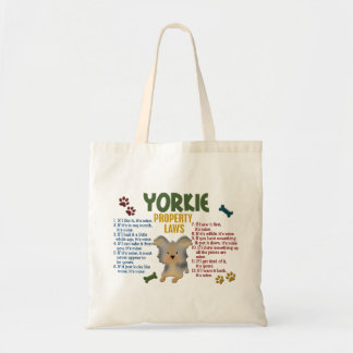 Yorkie Property Laws 4 Tote Bag