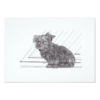 Yorkie Pup Card