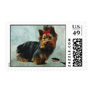 Yorkie Pup postage stamps
