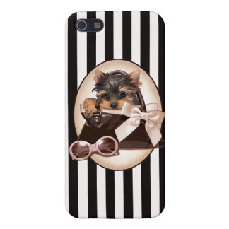 Yorkie Puppy and Handbag Case For iPhone 5