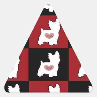 Yorkie/ Puppy Love Triangle Sticker
