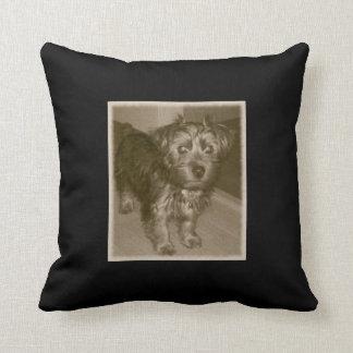 Yorkie sedoso Terrier Cojín Decorativo