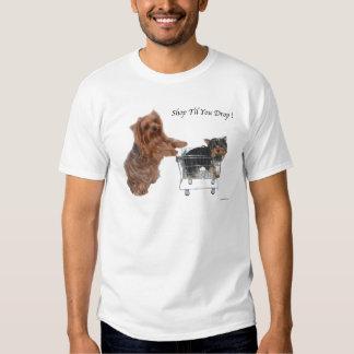 Yorkie Shop Til You Drop T-shirt