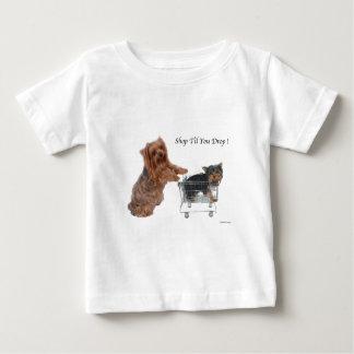Yorkie Shop Til You Drop Tee Shirt