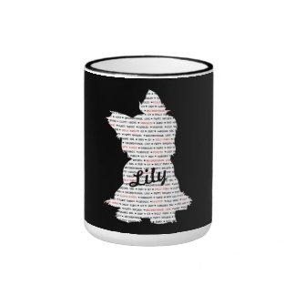 Yorkie/silueta personalizada de Yorkshire Terrier Taza De Dos Colores