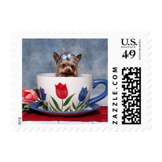 Yorkie Tea Cup Postage