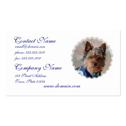 Yorkie Terrier Business Cards