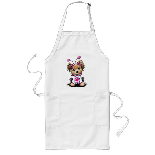 Yorkie Terrier Love Bug Long Apron