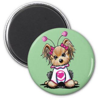 Yorkie Terrier Love Bug Fridge Magnet