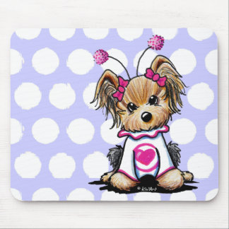 Yorkie Terrier Love Bug Mouse Pad