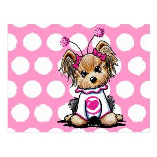 Yorkie Terrier Love Bug Post Card