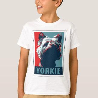 Yorkie Terrier Political Parody Design T-Shirt