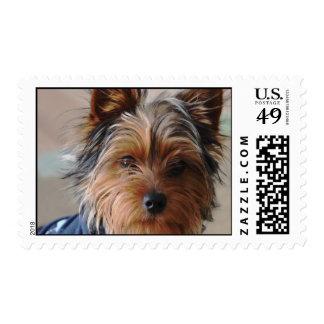 Yorkie Terrier  Postage Stamp
