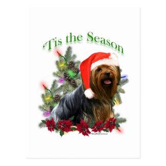 Yorkie 'Tis the Season  Postcard