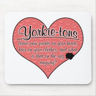 Yorkie-ton Paw Prints Dog Humor Mouse Pad
