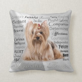 Yorkie Traits Pillow