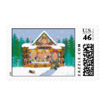 Yorkie Treat Shop Christmas Holiday Postage Stamps