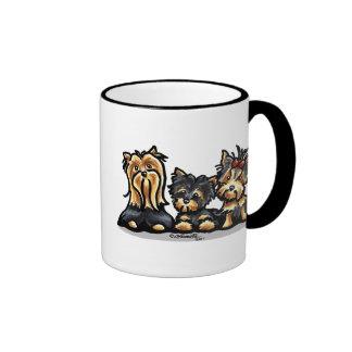 Yorkie Trio Ringer Mug
