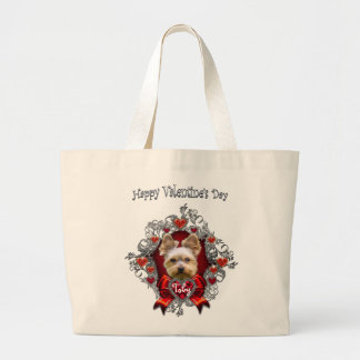 Yorkie Valentine's Day Jumbo Tote Bag