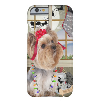 Yorkie Watches For Santa iPhone 6 Case