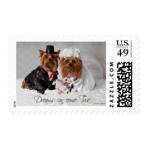 Yorkie Wedding Dreams Can Come True Stamps