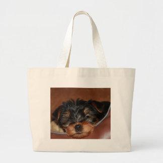 Yorkie Wink Large Tote Bag