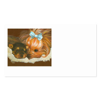 Yorkie with Puppy Business Card