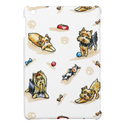Case Savvy iPad Mini Glossy Finish Case with Yorkshire Terrier Phone Cases design