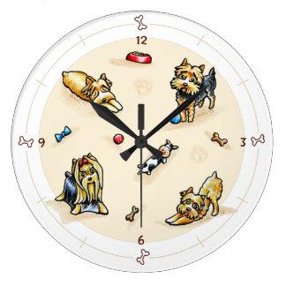 Yorkie World Large Clock