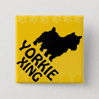 Yorkie Xing Pinback Button