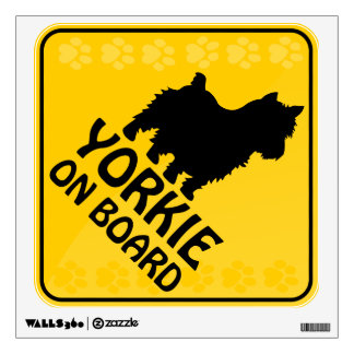 Yorkie Xing Wall Decal