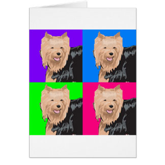 Yorkie Yorkshire Terrier Collage Card