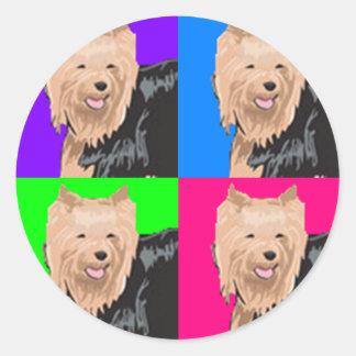 Yorkie Yorkshire Terrier Collage Classic Round Sticker