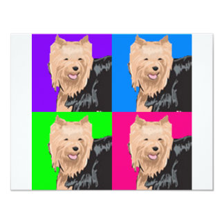 Yorkie Yorkshire Terrier Collage 4.25x5.5 Paper Invitation Card