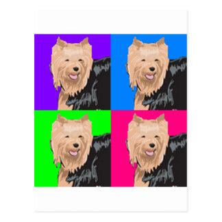 Yorkie Yorkshire Terrier Collage Postcard