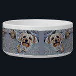"Yorkie Yorkshire Terrier Colored Bowl<br><div class=""desc"">An adorable Yorkshire Terrier digitally colored</div>"