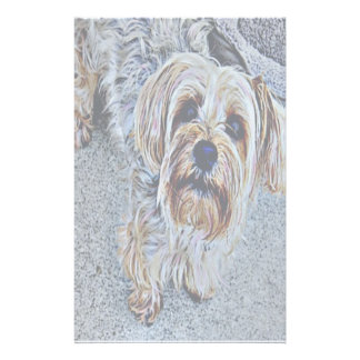 Yorkie Yorkshire Terrier Colored Stationery