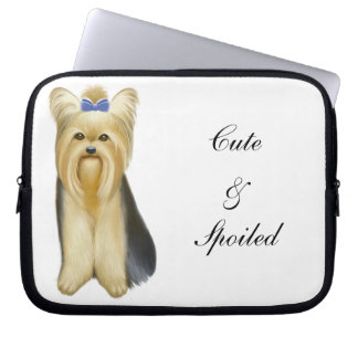 Yorkie Yorkshire Terrier Customizable Computer  Sl Computer Sleeves