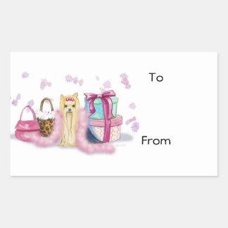 Yorkie Yorkshire Terrier Dress Up Rectangular Sticker