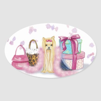 Yorkie Yorkshire Terrier Dress Up Stickers