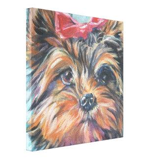 yorkie Yorkshire Terrier Fine Art Painting Canvas Print